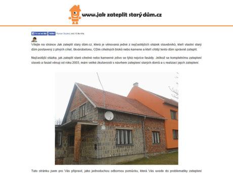 Jak zateplit starý dům