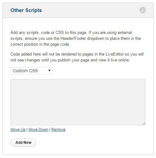 Blog-setting-custom-css